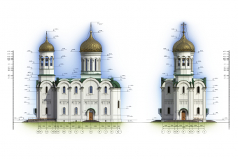 Чертеж храма