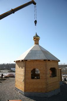 Установка купола