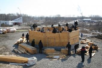 Вторая половина первого дня строительства