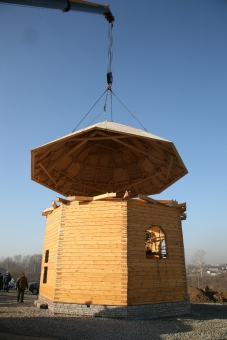 Установка крыши